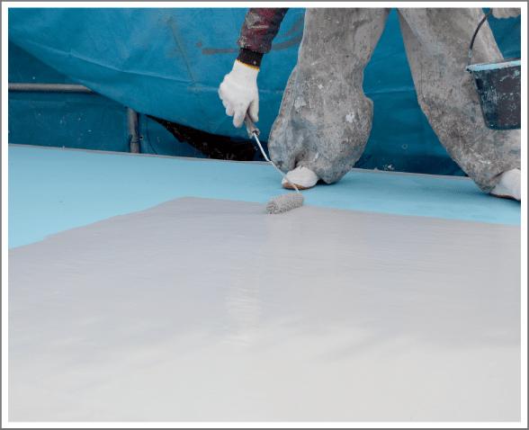 塗膜防水(おもにウレタン防水)